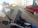 Motosiklet sürücüsü kıl payı ölümden döndü
