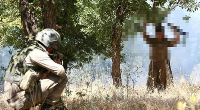 Şırnakta kadın terörist teslim oldu