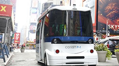 Sürücüsüz otobüs New York sokaklarında deneme sürüşü yaptı