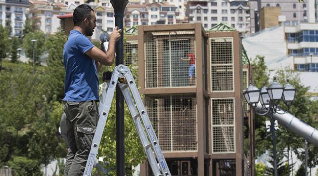 Başkentte parklara güvenlik kamerası önlemi