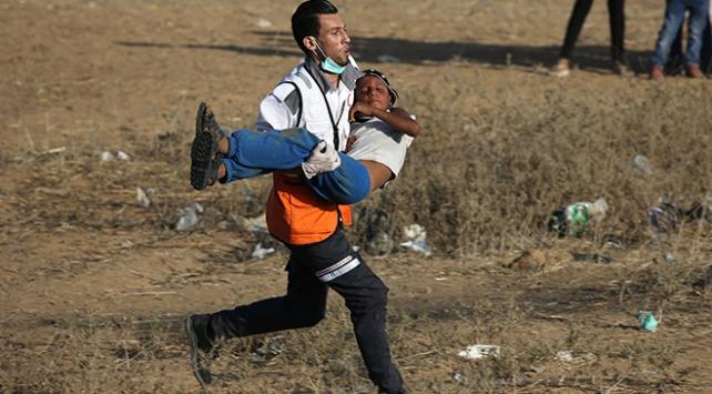 Gazzede Büyük Dönüş Yürüyüşü gösterilerinde 17nci Cuma