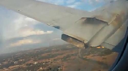 Bindiği uçağın düşüş anını saniye saniye kaydetti