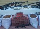 Mardin'de patlayıcı ve silah ele geçirildi