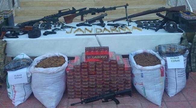 Mardinde patlayıcı ve silah ele geçirildi