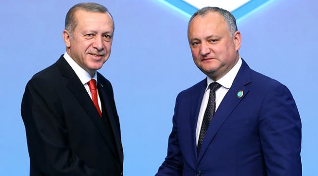 Cumhurbaşkanı Erdoğan, Moldova Cumhurbaşkanı Dodon ile telefonda görüştü