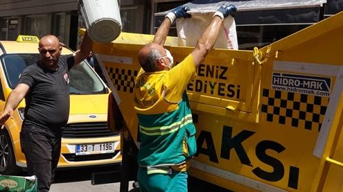 Akdeniz Belediyesi'nden 'Çöp Taksi' uygulaması