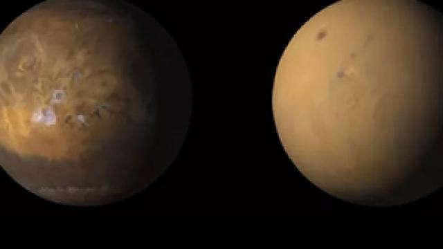 Mars'taki toz fırtınası tüm gezegeni değiştirdi