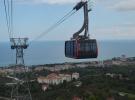 Trabzon'da yapılan 3 bin 600 metrelik teleferik tanıtıldı