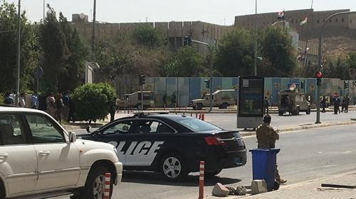 Erbilde valilik binasına silahlı saldırı