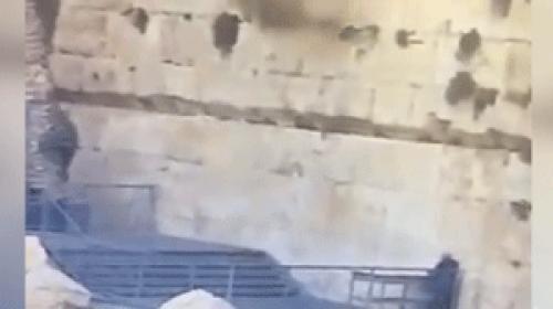 İsrailin kazı çalışmaları Burak Duvarına zarar veriyor
