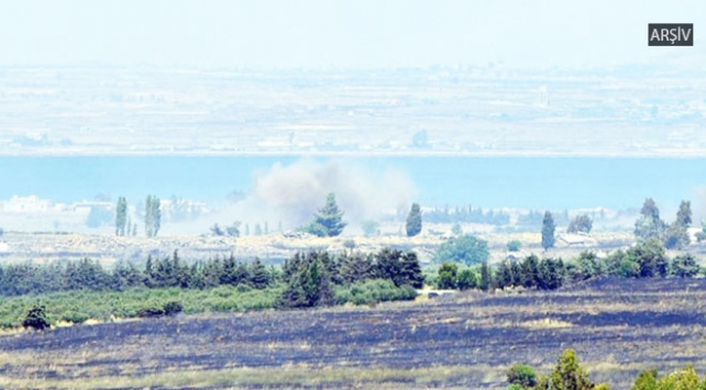 Suriyedeki çatışmalarda atılan 2 roket İsrail tarafına düştü