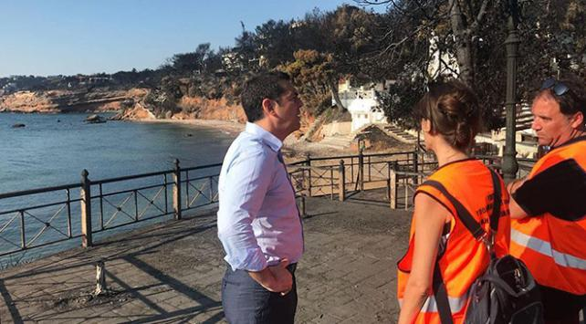 Yunanistan Başbakanı Çiprastan yangın bölgesine ziyaret