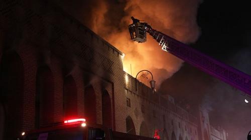 Erbil'de Osmanlı yadigarı çarşıda yangın