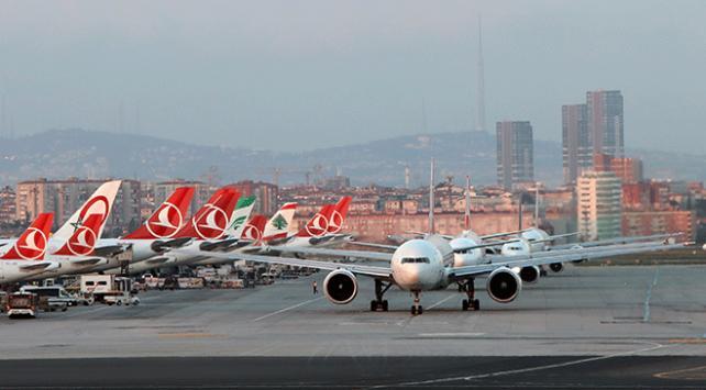 Hava yolu yolcu sayısı 7 ayda 120 milyonu aştı