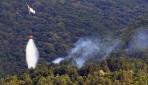 Uludağın eteklerinde orman yangını