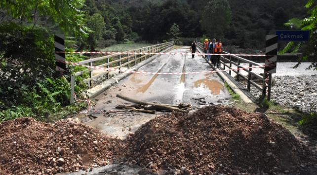 Ordudaki sel felaketinde 8 köprüde tahribat oluştu
