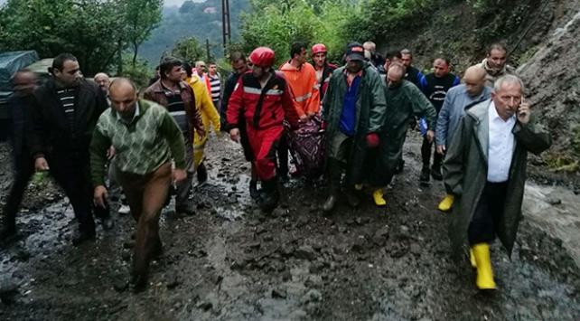 Ordu İkizcede sel sularına kapılan bir kişi hayatını kaybetti