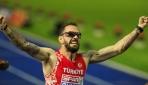 Erkekler 200 metrede altın madalya kazanan Ramil Guliyev TRT Spora konuştu