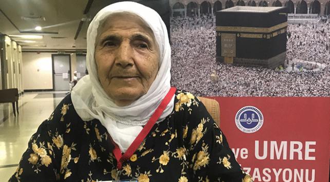 Türkiyenin en yaşlı hacı adayı kutsal topraklarda