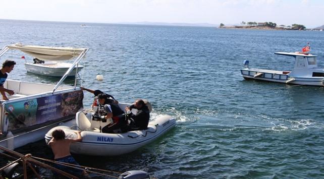 Balıkesir Erdekte su altı görüntüleme yarışması yapıldı