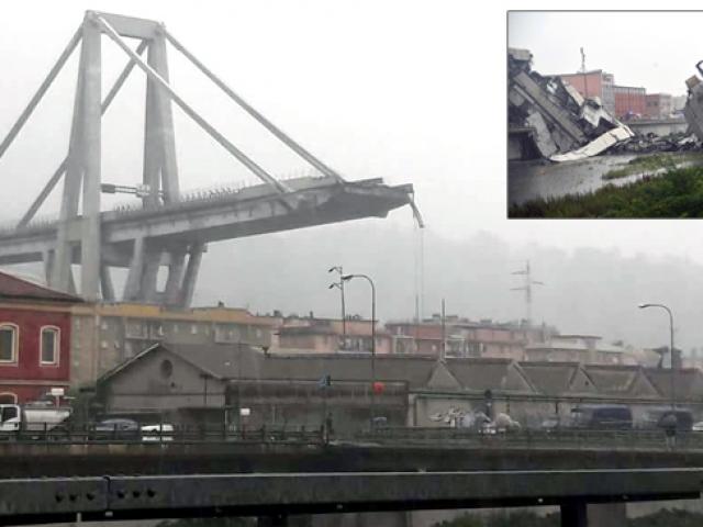 İtalyada otoyol köprüsü çöktü