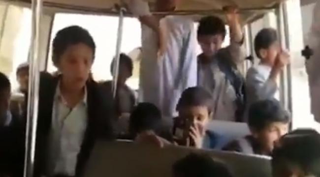 Yemende saldırıda ölen çocukların son görüntüleri yayınlandı