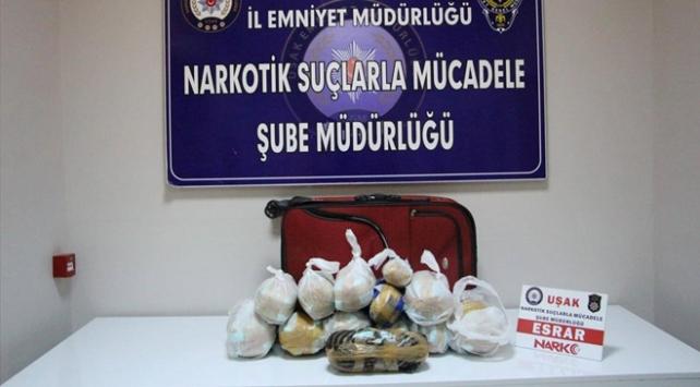 Yolcu otobüsünde 14 kilo uyuşturucu madde ele geçirildi