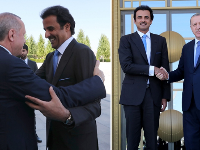 Cumhurbaşkanı Erdoğan, Katar Emiri Al Sani ile görüştü