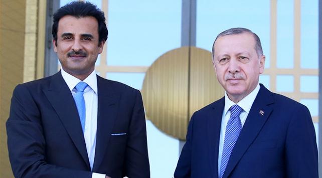 Cumhurbaşkanı Erdoğandan Katar Emiri Al Saniye teşekkür