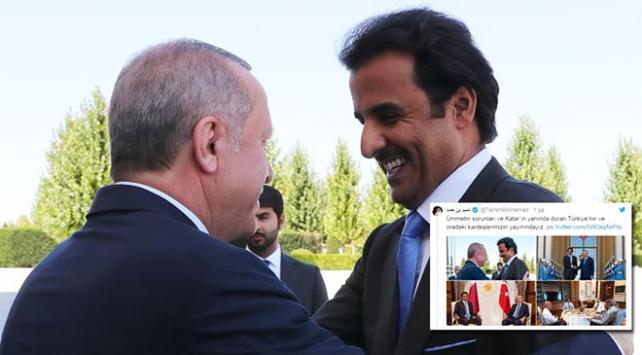 Katar Emiri Al Sani: Türkiyenin ve oradaki kardeşlerimizin yanındayız