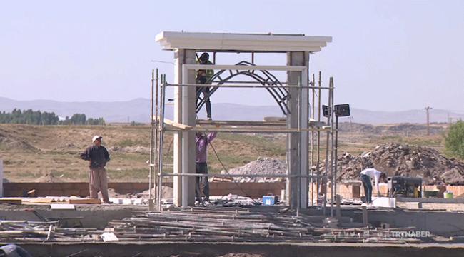 Malazgirtte Sultan Alparslan Namazgahı inşa ediliyor