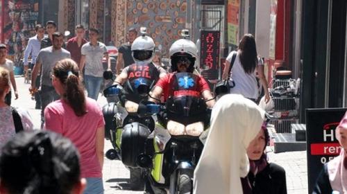 Boluda motosiklet ambulanslar hayat kurtarıyor