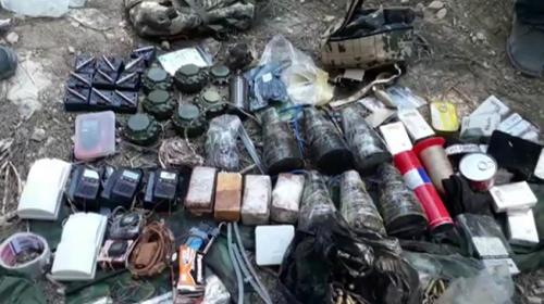 Afrinde YPG/PKKya ait cephanelik bulundu