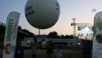 Çanakkalede helyum balonuyla uzaya şeftali bırakıldı
