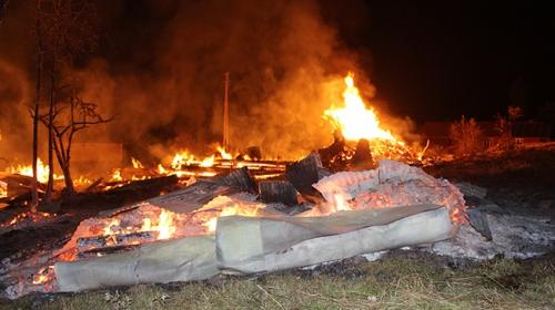 Kastamonuda yangın 8 aileyi evsiz bıraktı