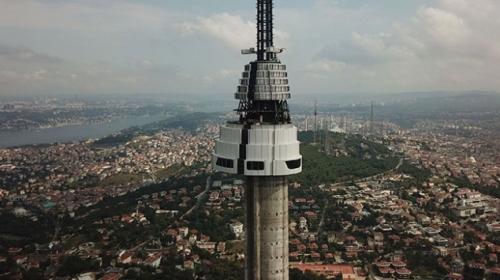 Çamlıca Televizyon Kulesi giydiriliyor