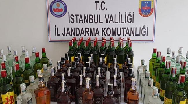 Jandarmadan sahte içki operasyonu: 9 gözaltı