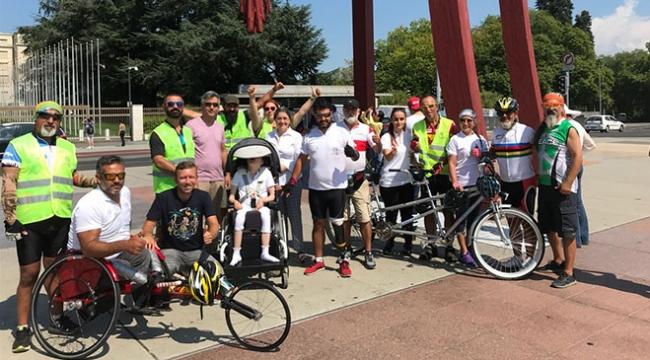 """""""Sessiz Çığlık Bisiklet Turu"""" Cenevrede"""