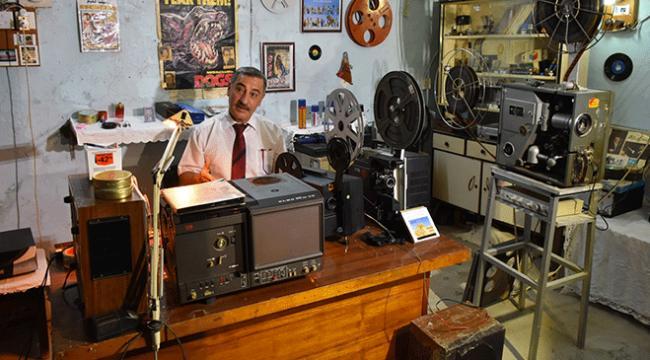 Kerküklü sinema tutkunu evini müzeye çevirdi