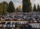 Filistinliler bayram namazını Mescid-i Aksa'da kıldı