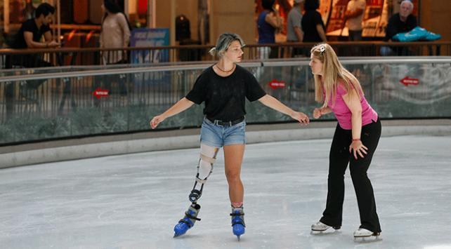 Protez bacağıyla sporda engel tanımıyor