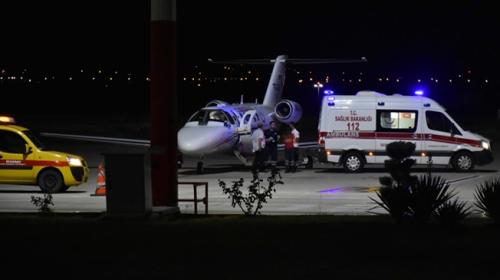 Ambulans uçak Muhammet bebek için havalandı