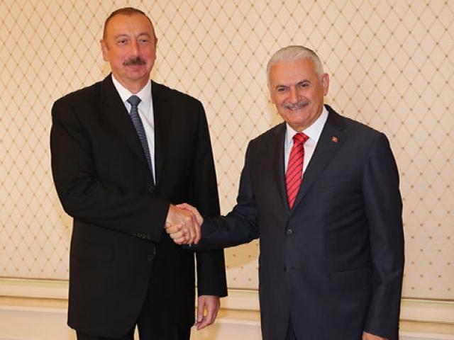 TBMM Başkanı Yıldırım Azerbaycan Cumhurbaşkanı Aliyev ile görüştü