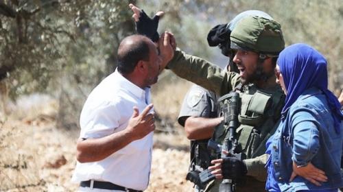 İsrail askerlerinden Filistinli köy sakinlerine müdahale