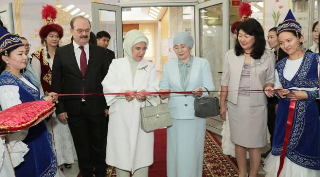 Emine Erdoğan, Cengiz Aytmatov Kültür Merkezinin açılışını yaptı