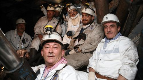Enerji ve Tabi Kaynaklar Bakanı Fatih Dönmez maden ocağına indi