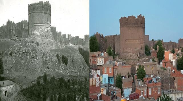 Diyarbakırın 100 yıl önce fotoğraflanan tarihi dokusu aynı kadrajdan görüntülendi