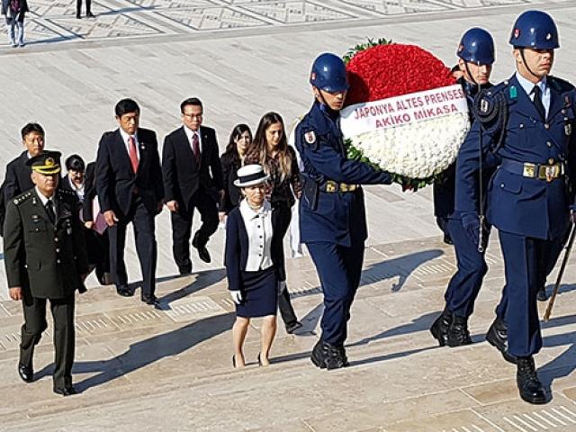 Japonya Prensesi Mikasa Ankarada