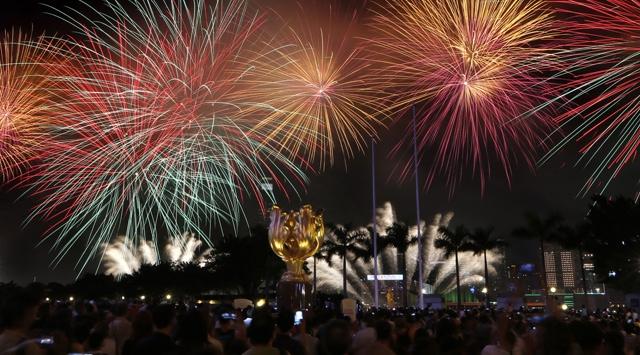 Hong Kongda Kutlama ve Protesto