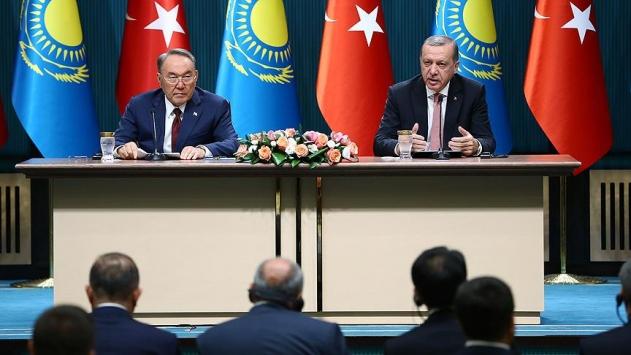 Cumhurbaşkanı Erdoğan ile Nazarbayev ortak hedefler için buluşacak